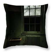 Old Room - Abandoned Asylum - The Presence Outside Throw Pillow by Gary Heller