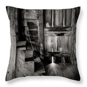 Old Room - Rustic - Inside The Windmill Throw Pillow by Gary Heller