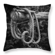 Old Rope Throw Pillow