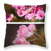 Old Roses Vertical Throw Pillow