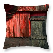 Old Rr Snow Plow  Throw Pillow