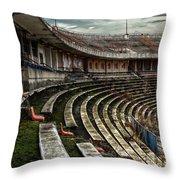 Old Ruined Stadium Throw Pillow