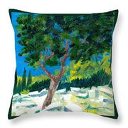 Old Ruins At Rhodes Throw Pillow