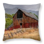 Old Rural Barn In Thunderstorm - Utah Throw Pillow