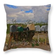 Old Rural Route Throw Pillow