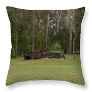 Old Rusted Truck Throw Pillow