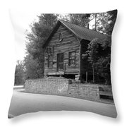 Old Rustic Cabin Throw Pillow