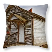 Old Rustic Rural Country Farm House Throw Pillow