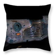 Old Rusty Junk Car In Vivid Colors Throw Pillow by Gunter Nezhoda
