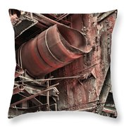 Old Rusty Pipes Throw Pillow