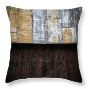 Old Rusty Tin Roof Barn Throw Pillow