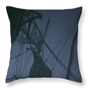Old Sailing Ship Reflected Throw Pillow
