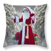Old Saint Nick Throw Pillow