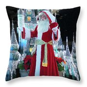 Old Saint Nick Walt Disney World Digital Art 02 Throw Pillow