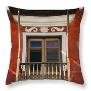 Old San Juan Balcony Throw Pillow