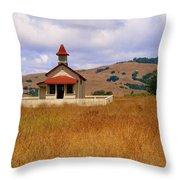 Old San Sebastian School In Field Throw Pillow