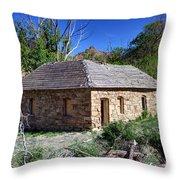 Old Sandstone Brick Farm House Nine Mile Canyon - Utah Throw Pillow