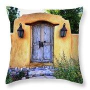 Old Santa Fe Gate Throw Pillow