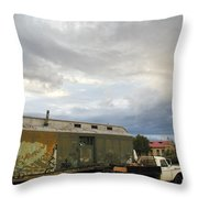 Old Santa Fe Railyard Throw Pillow