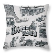 Old Savin Rock Throw Pillow