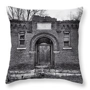 Old School Bw Throw Pillow