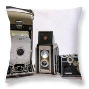 Old School Cameras Throw Pillow