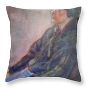 Old School - Contemporary Portrait Throw Pillow