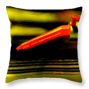 Old School Deejay 1 Throw Pillow