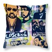 Old School Hip Hop 2 Throw Pillow