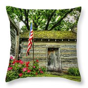 Old School House Throw Pillow