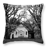 Old School House In The Woods Throw Pillow by Thomas J Rhodes