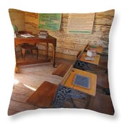 Old School Throw Pillow by John Malone