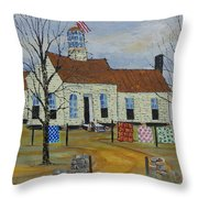 Old School Quilt Show Throw Pillow