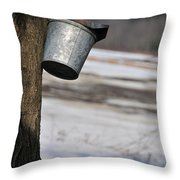 Old School Sugar Harvest Throw Pillow
