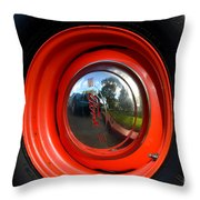 Old School Wheel And New Reflection Throw Pillow