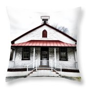 Old Schoolhouse Chester Springs Throw Pillow