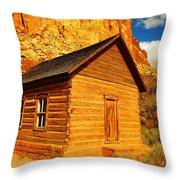 Old Schoolhouse Near Capital Reef Utah Throw Pillow by Jeff Swan