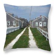 Old 'sconset Nantucket Houses Throw Pillow