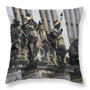 Old Sculptures Throw Pillow