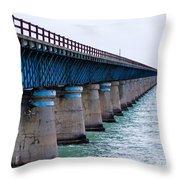 Old Seven Mile Bridge Throw Pillow