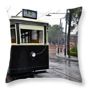 Old Shanghai Trolley Tram Car Rests In Tracks Throw Pillow