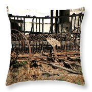 Old Sharecropper Throw Pillow