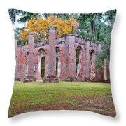 Old Sheldon Chruch Throw Pillow