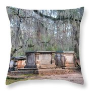 Old Sheldon Church Broken Tombs Throw Pillow