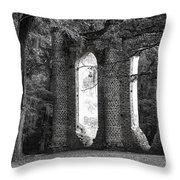 Old Sheldon Church Side View Throw Pillow
