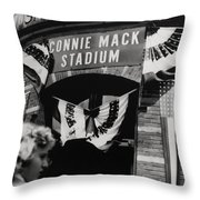 Old Shibe Park - Connie Mack Stadium Throw Pillow