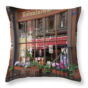 Old Shop Hamburg Throw Pillow