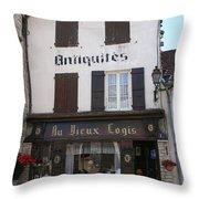 Old Shop In Tournus Throw Pillow