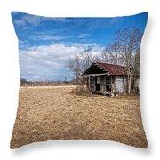 Old Shotgun House Throw Pillow