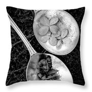 Old Silver Spoons Throw Pillow